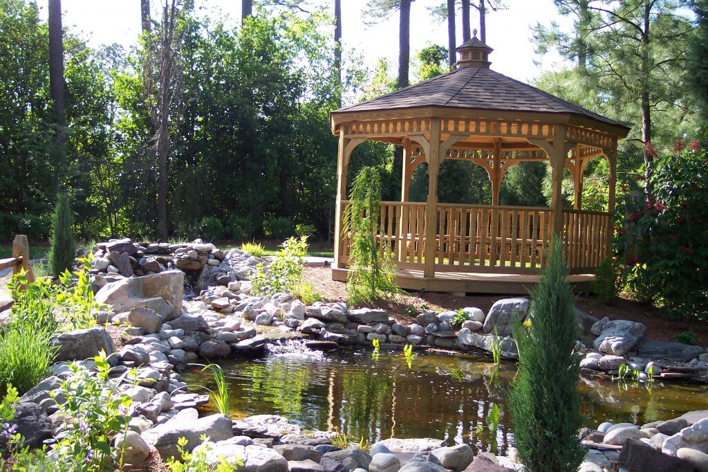 Busch Gardens Pond installed with gazebo 2